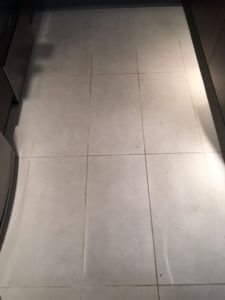 dirty kitchen tile grout floor