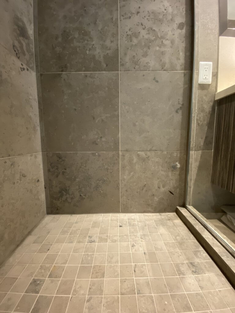 limestone shower cleaning vancouver end wall after