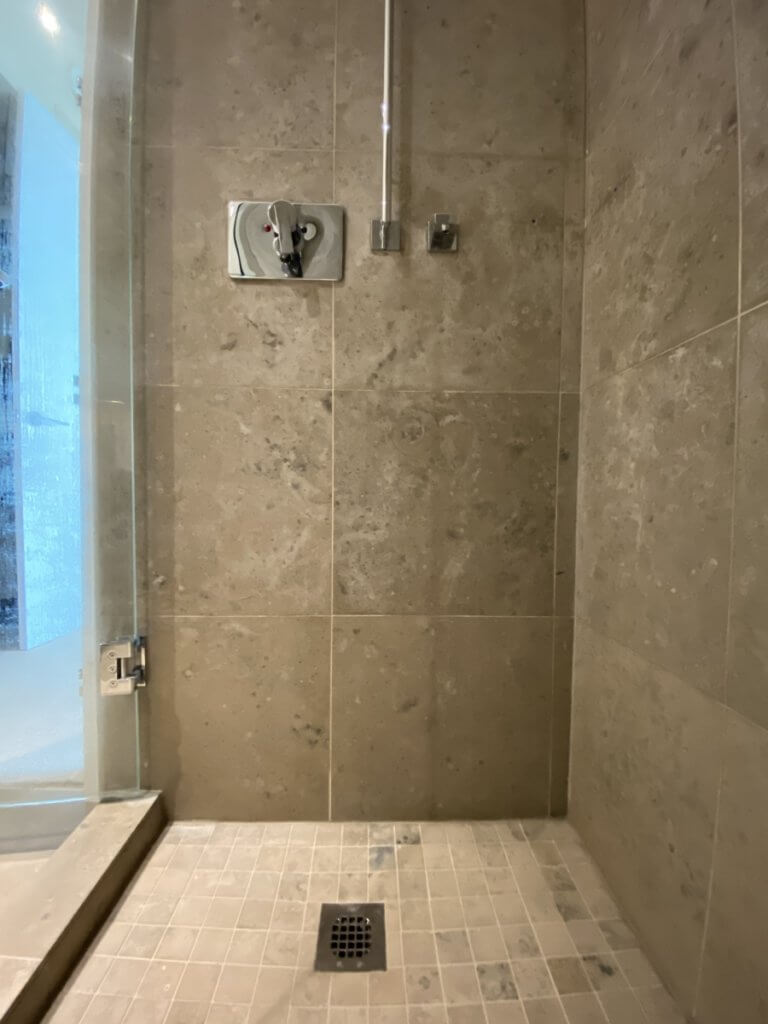 limestone shower cleaning vancouver front wall after