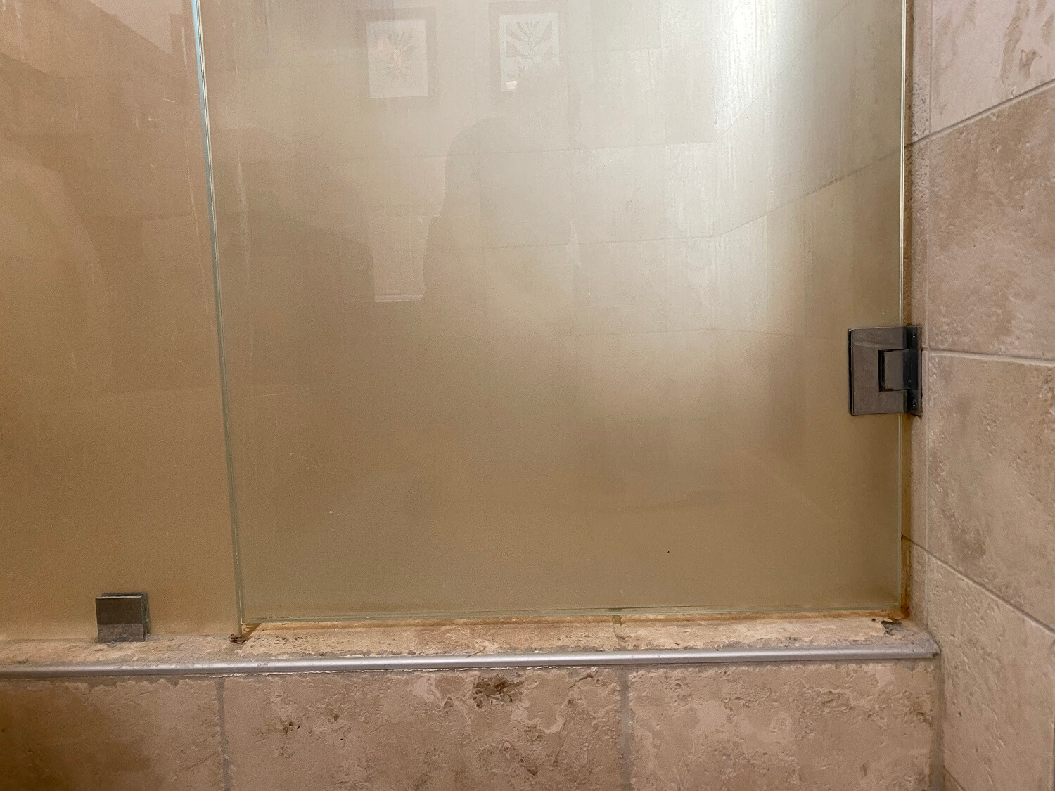 shower glass soap film before 1