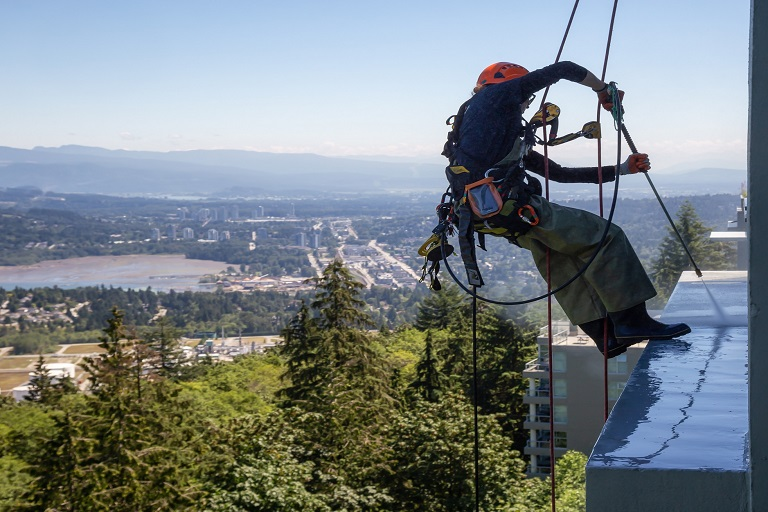 rope access building cleaning vancouver